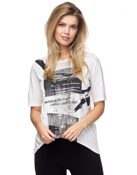 7666-Stylisches T-Shirt von Decay mit aufregendem Aufdruck.