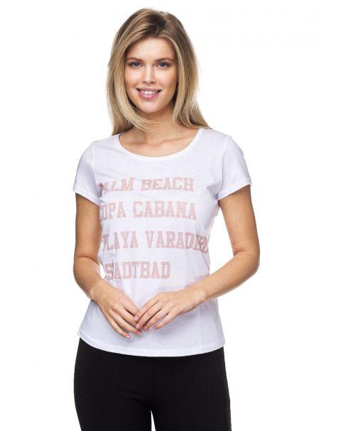 7678-Schlichtes T-Shirt von Decay mit Schriftzug.