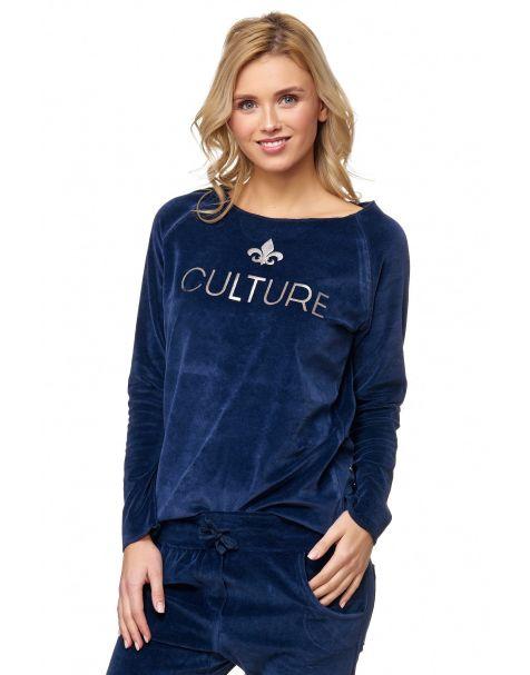 MAK26 - Samt-Sweatshirt - Farbe Blue