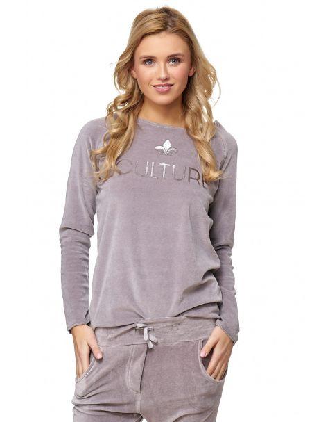 MAK26 - Samt-Sweatshirt - Farbe Grey