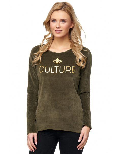 MAK26 - Samt-Sweatshirt - Farbe Khaki
