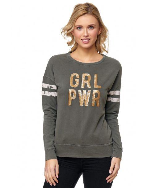 MD1208 - Sweatshirt - Farbe Khaki