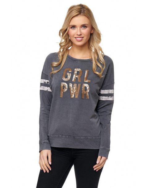 MD1208 - Sweatshirt - Farbe Grey