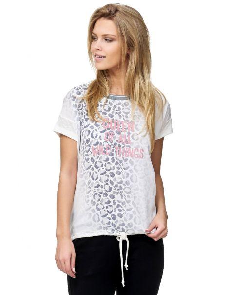 MD1402-Elegantes T-Shirt von Decay mit Tunnelzug-Grau