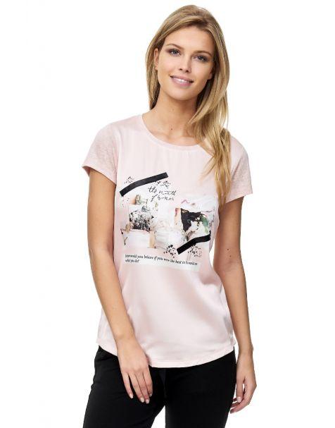 Decay T-shirt mit Druck unf Gummy-Rosa