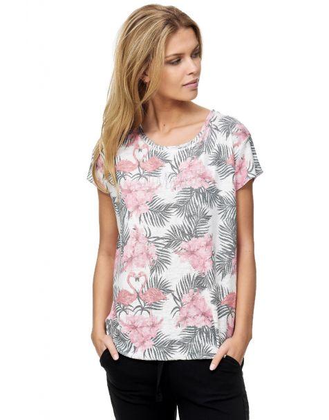 Decay Flamingo T-Shirt -Rosa