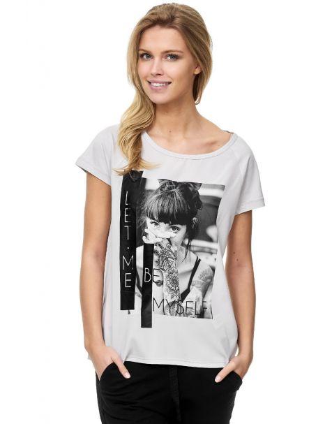 Decay T-Shirt mit Druck und Gummy-Grau