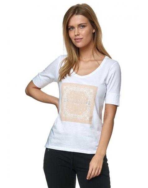 Decay T-Shirt mit Grafischer Print auf der Front und Strassstein-Weiß
