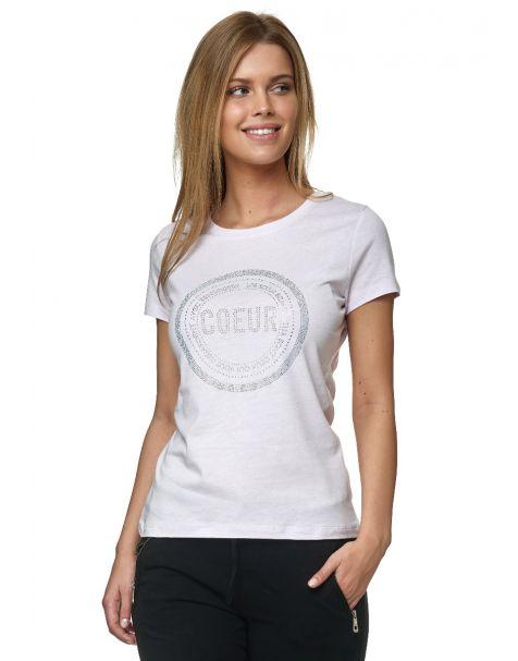 Decay T-Shirt mit Strassstein-Schriftzug-Flieder
