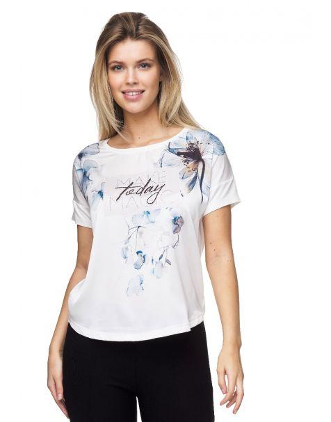 MD1559 Stylisches Decay T-Shirt mit Blumen-Aufdruck.